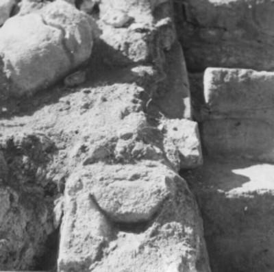 Alfarda del Templo 14, detalle de excavación