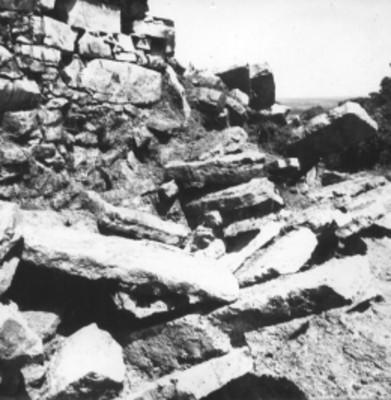 Lápidas en la superficie del Templo 14, detalle