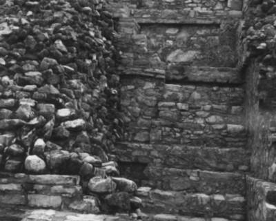 Escalones reconstruidos, vista parcial