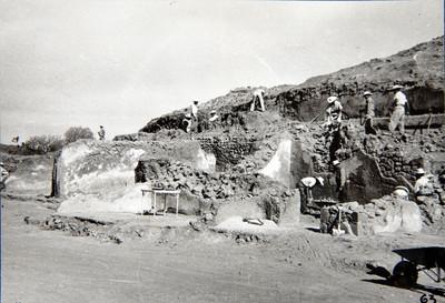 Trabajos de excavación en la plaza del Sol