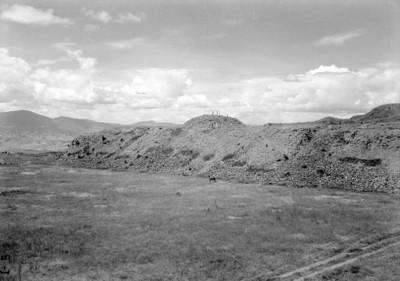 Vista de los trabajos de exploración en la parte superior de la Plataforma Norte