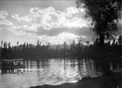 """Canal de """"Xochimilco"""", vista parcial"""