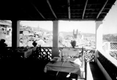 Taxco, vista desde el restaurante del Hotel Victoria