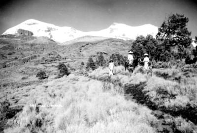 El Iztaccíhuatl, panorámica