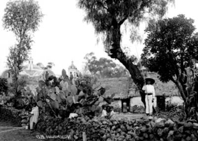 Indígenas en Xochimilco