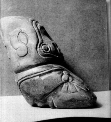 Hacha Olmeca, exhibida en el Museo Nacional