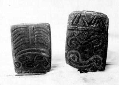 Sellos prehispánicos exhibidos en el Museo Nacional