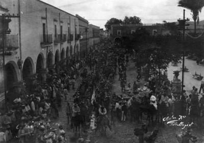 Constitucionalistas a su entrada a Toluca