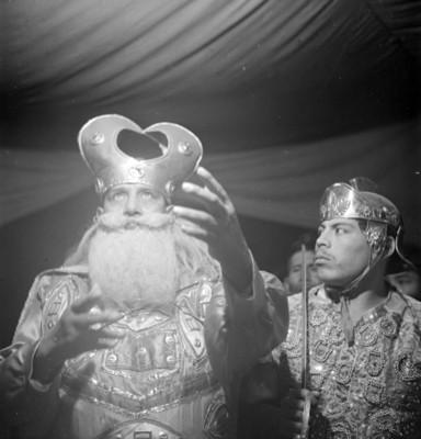 Actores en la representación de la Pasión de Cristo en Iztapalapa