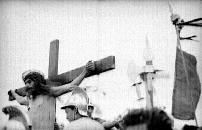 La Crucifixión durante el Viacrucis en Iztapalapa