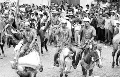 Actores en la Pasión de Cristo en Iztapalapa