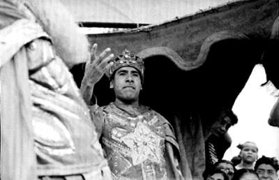 Actor durante la Pasión de Cristo en Iztapalapa