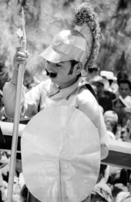 Actor en la representación de la Pasión de Cristo en Iztapalapa