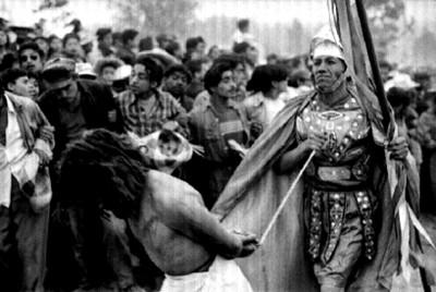 Jesús es conducido a la cruz, escena de la Pasión de Cristo en Iztapalapa