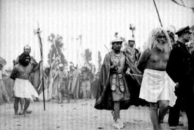 Dimas y Gestas son tomados presos, representación de la Pasión de Cristo en Iztapalapa