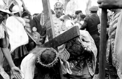 Representación del calvario de Cristo en Iztapalapa