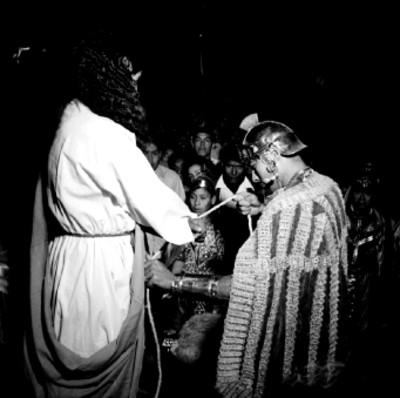 Jesucristo es apresado por romanos, representación de la Pasión de Cristo en Iztapalapa