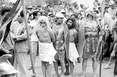 Pasaje de la representación la Pasión de Cristo en Iztapalapa