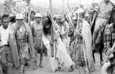 Representación del calvario de Jesucristo en Iztapalapa