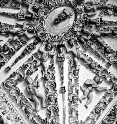 Relieves de ángeles en la iglesia de Santa María de Tonantzintla