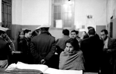 Mujer rinde su declaración ante el Ministerio Público