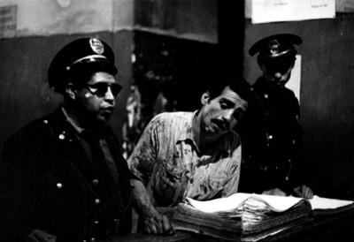 Detenido acompañado de policias en el MInisterio Público