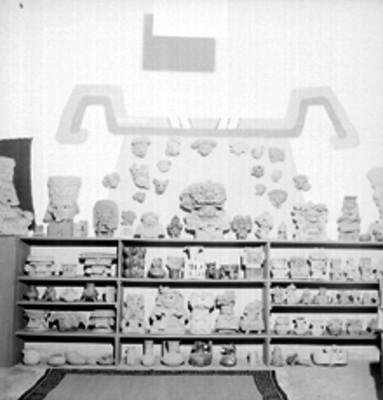 Artefactos prehispánicos exhibidos en el mueseo del Sitio