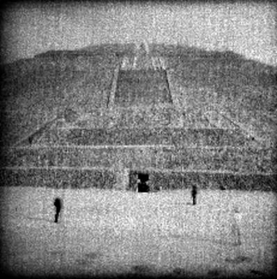 Pirámide del Sol, vista parcial