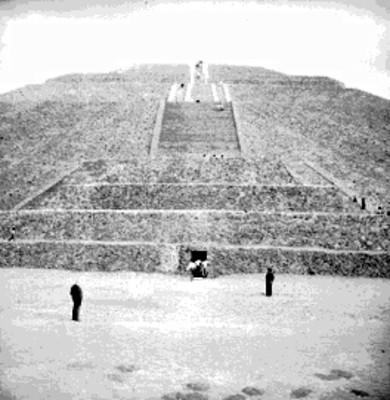 Pirámide de Sol, detalle