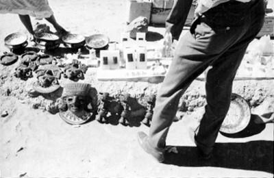 Puesto de artesanias en Teotihuacán