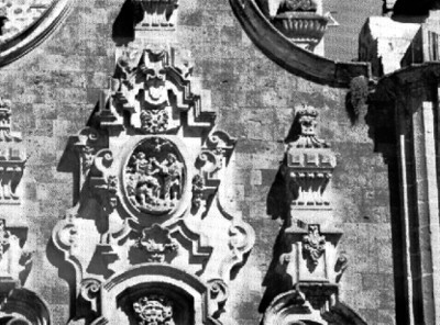 Acceso lateral del Sagrario, detalle