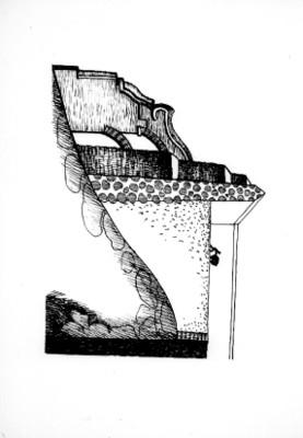 Diseño de una mina de la hacienda La Valenciana, dibujo