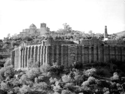 Contrafuertes de la hacienda La Valenciana