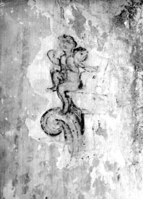 Fresco de un ángel en el muro de una iglesia