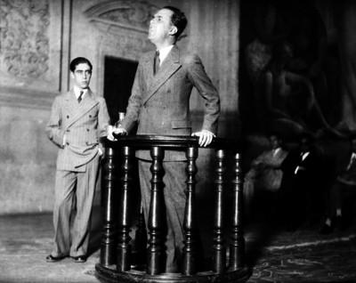 Luis Chico Goerne haciendo uso de la palabra en el auditorio Simón Bolívar de San Ildefonso