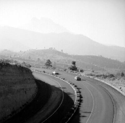 Tramo de una carretera, panorámica
