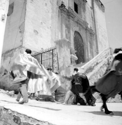 Actores en escena durante el Cervantino en Guanajuato