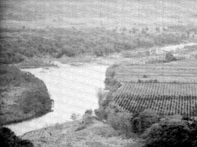 Campos de cultivo y ríos, panorámica
