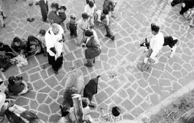 Ceremonia da bendición a animales en atrio de la iglesia de Mixquic
