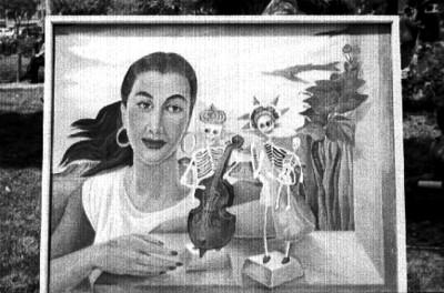 Pintura exhibida en el Jardín del Arte