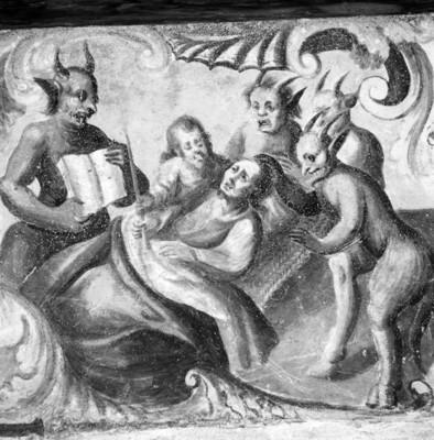 Ángeles y demonios, pintura en la iglesia de Atotonilco