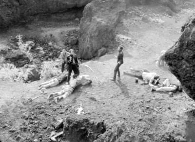 Actores en escena de la película Los Hombres Cultos