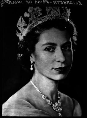 Isabel II reina de Inglaterra, retrato