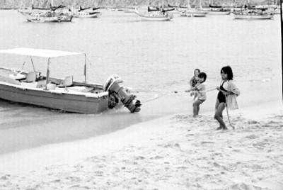 Embarcación y niños