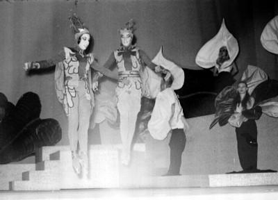 Actores durante la opereta músical
