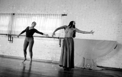 Rocío Sagaón y Bailarina Durante un Ensayo