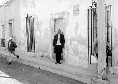 José Chávez Morado en una Calle, Retrato