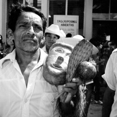 Hombre Chontal ejecutante de la danza del tigre