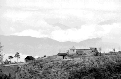 Casa rustica, paisaje