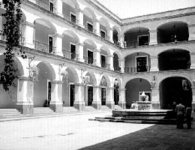 Patio de el Palacio de Gobierno, vista parcial